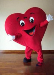 red heart mascot 2019 - Free shipping Adult Size Red Heart Mascot Costume Fancy Heart Mascot Cosbirthday gift costume cheap red heart mascot