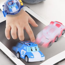 Rc watches online shopping - Educational Toys For Children RC Car Transformation Robots Sports Racing Cars drive Remote Watch Control Cool Action Figures
