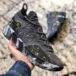 spot rivets 2019 - Mens KD 11 Basketball Shoes Black Grey KD 11 Persian Gold Splatter Sneakers Kevin Durant 11s Designer Shoes Spot Trainer