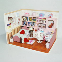 $enCountryForm.capitalKeyWord NZ - DIY Doll House Wooden Doll Houses Miniature dollhouse Furniture Kit Toys for Children Love Christmas Gift Birthday Gifts #K003