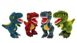 $enCountryForm.capitalKeyWord Australia - New Dinosaur Pendant Soft Stuffed Animal Tyrannosaurus Plush Toys Doll Kids Gift Four Colors 13cm