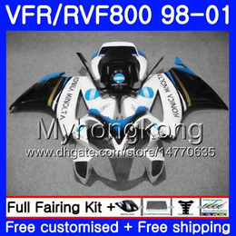 honda vfr interceptor fairings Australia - Body For HONDA Interceptor VFR800R VFR800 KONICA blue hot 1998 1999 2000 2001 259HM.47 VFR 800RR VFR 800 RR VFR800RR 98 99 00 01 Fairing kit