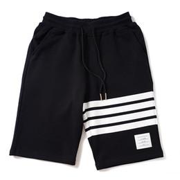 Knee Length Clothing Australia - Mens Summer Designer Sports Short Pants Fashion Cotton Relaxed Loose Clothing Knee Length Black Gary Casual Apparel