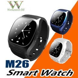 smart watch compatible samsung s5 NZ - M26 Bluetooth Smart Watches for iPhone 6 6S Samsung S5 S4 Note 3 HTC Android Phone Smartwatch for Men Women