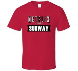 $enCountryForm.capitalKeyWord Australia - Netflix And Subway Fast Food Fan T Shirt
