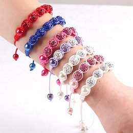 $enCountryForm.capitalKeyWord Australia - Baby Kids Bracelet Pave Crystal Disco Ball Candy Beads Friendship Children Bracelets Nice Gift for Children kids
