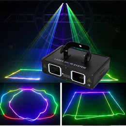 professional laser show equipment Australia - Double heads 2 holes Mini rgb full color beam laser light show performance event equipment Christmas Halloween