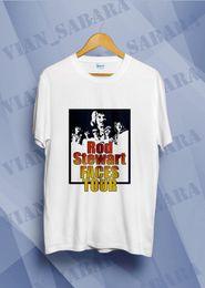 Ingrosso Rod Stewart Faces Tour 1975 Ronnie Wood Kenn Vintage T-shirt ristampa il formato S-2XL