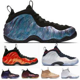 pretty nice 1c8e0 1e243 Penny Hardaway Men Basketball Shoes Foam One Abalone Habanero Red Black  Metallic Gold Alternate Galaxy White Ice Olympic Mens Sports Sneaker