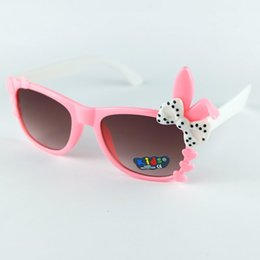 Wholesale Bow Boys Sunglasses Cartoon Kids Goggle Girls Baby Glasses children Princess cute baby Sunglasses Goggles KL1008