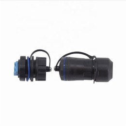 optic fiber cable connector NZ - M20 LC Optocoupler with in out waterproof cover Extension Connector Fiber Optic Cold Connector Straight Head Female socket