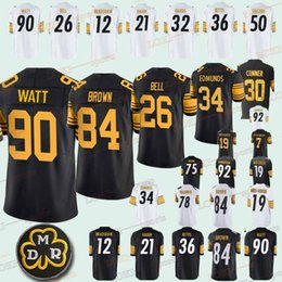 838937288 7 Ben Roethlisberger Pittsburgh 33 Steeler jerseys 19 Juju Smith-Schuster 84  Antonio Brown 78 Alejandro Villanue 90 T.J. Watt 2018 jersey