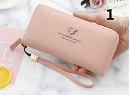 Hot Lady Cartoon Australia - Hot sale and wholesale 2019 fashion ladies single zipper cheap wallet designer women pu leather wallet lady ladies long purse