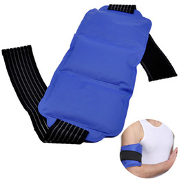 $enCountryForm.capitalKeyWord UK - With Strap Wrist Knee Gel Wrap Pain Relief Shoulder Ice Pack Set Soft Body Hot And Cold Elastic Multiple-use Reusable Portable