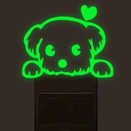 $enCountryForm.capitalKeyWord Australia - Love Dog Luminous Light Switch PVC Wall Sticker