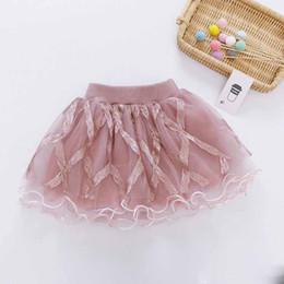 $enCountryForm.capitalKeyWord NZ - INS Designs Little Girls Summer Gauze Skirt Short Dance Skirt Blank Silk Baby Girls Tutu Skirts Princess Party Wear Lovely Child Clothing