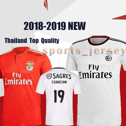 3fafe5a84534 Benfica jersey 10 JONAS 14 SEFEROVIC 19 ELISEU 18 SALVIO 21 PIZZI Men s  soccer jerseys 2018-2019 NEW edition