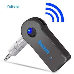 YuBeter Bluetooth Приемник 3.5 мм AUX Аудио Разъем Беспроводной Передатчик Музыкальный Адаптер Для MP3 Автомобильный Динамик Наушники Hands Free Call на Распродаже