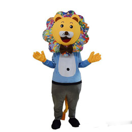 dress lions mascot UK - 2019 High quality hot lion mascot costume Adult Size Character lion Costumes for Fancy Dress Party Clothing