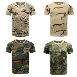 $enCountryForm.capitalKeyWord Australia - Pro Camouflage Hiking Fishinig T Shirt Summer Coolmax Breathable Sports Tops Quick Dry O Neck Short Sleeve T Shirt
