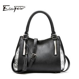 Tote Large Canada - Genuine Leather Female Bag For Women Nice Fashion Tassel Luxury Design Women Shoulder Bag Large Capacity Lady Messenger Tote