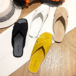 Knotted Sandal Australia - 2019 new style is very good-looking ~ niche design leather flat cross knotted slippers women's sandals and slippers