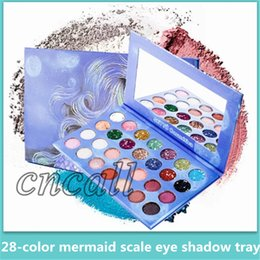 $enCountryForm.capitalKeyWord Australia - Hot 28 color mermaid scales Eye shadow disc Pearlescent matte Glitter powder sequins eye shadow tray High quality cosmetics