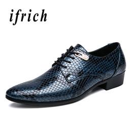 Mens Pointed Toe Dress Shoes Blue Black Business Male Shoes Comfortable  Derby Men Rubber Sole Elegant For Men 82f388842f70