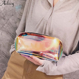 Waterproof Zipper Sale NZ - Aelicy Women Transparent Lasher Waterproof Handbag Fashion Make Up Bag Panelled Jelly Storage Bag With Zipper Hot Sales
