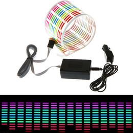Car Sound Music Equalizer Australia - 8W 12V Car Flash Led Sound Control Sticker Light Equalizer Music Decor Rhythm Audio 90*10 cm 90*25 cm 114*30 cm