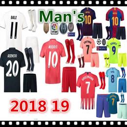 e35cab0ac 2018 2019 Real Madrid soccer jerseys adult sets 18 19 ASENSIO MODRIC BALE  ISCO RAMOS football shirts home away men s kits customize