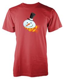 Colour Cotton Scarf Australia - Snowman Hat Scarf Christmas Xmas Adult T Shirt Short Sleeve Plus Size t-shirt colour jersey Print t shirt