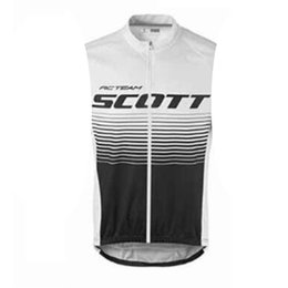 men s sleeveless cycling jersey UK - 2019 SCOTT team Cycling Sleeveless jersey Vest men MTB bike Clothes Lycra High quality Quick Dry Clothing