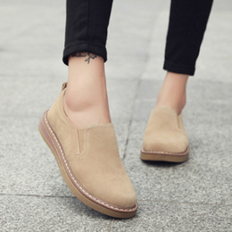 Women jazz shoes online shopping - WDHKUN New Spring Women Flats Sneakers Suede Leather Round Toe Shoes Casual Shoes Women Slip On Flat Loafers Jazz Oxford