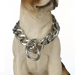 $enCountryForm.capitalKeyWord UK - Fashion Jewelry Necklace 13 15 19mm wide Customize Length Silver Tone Cut Curb Cuban Link 316L Stainless Steel Dog Chain Collar