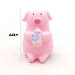 Ship Bath Toy Australia - Free shipping Bottle lovely Meng Meng pig Bathing Playing in the water Silicone toy piggy Decompression sounding toy