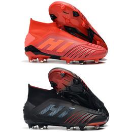 f0d2a17537 Nueva llegada Mens tobillo botas de fútbol Predator 19+ suelo firme ZIDANE  BECKHAM Tacos de fútbol Predator 19 FG zapatos de fútbol al aire libre