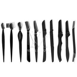 10 estilos Nenhum Eletric Sobrancelha Trimmer Depilação Set sobrancelha Blades Shaver por Maquiagem Kit de aço inoxidável de corte Cosmetic 1pc em Promoção