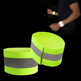 Wrist Band Cycling Australia - Reflective Wristbands Elastic Ankle Visibility Band Arm Wrist Bands Waling Cycling Running Outdoor Sports Strip Wrist Support 500pcs OOA6079