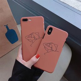 $enCountryForm.capitalKeyWord Australia - Cartoon Comic Sleeping Girl Pattern Grind Arenaceous Hard Shell For iPhone X XS XS MAX,Case Cover For iPhone 6 7 8 plus