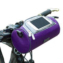 Großhandel Große Fahrrad Taschen Lenker Vorderrohr Wasserdichte Fahrrad Handytasche Touchscreen Pack Für Studenten Frauen Mädchen Radfahren Zubehör # 208472