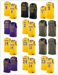 Kobe basKetball shorts online shopping - 2018 Los Angeles LeBron James Kobe Bryant Laker Swingman basketball VaporKnit Authentic City Jersey Edition