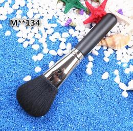 Hair Powders Australia - MACJAPAN Classic Brush 134 Large Powder Face Brush Brand Soft Goat Hair Powder Pro Makeup Brushes Tools
