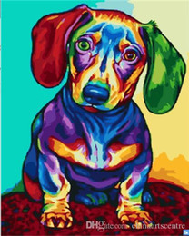 modern animal oil painting Australia - A. High Quality Handpainted & HD Print Modern Abstract Animal Art Oil Painting Coloring Dog On Canvas Wall Art Home Office Deco a11