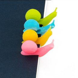 snail tea NZ - Tea Bag Holder Cute Snail Shape Silicone Holder Carton Shape Candy Colors Set Tea Tools Tea Infuser IIA19
