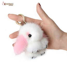 $enCountryForm.capitalKeyWord Australia - Fashion New Mink Fur Plush Toy Female Trick Hare Car Keychain Multicolor Doll Charm Keychain Jewelry Gift Lady Bag Pendant. SH190913