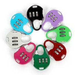 Stationery Australia - Color Mini Padlock For Backpack Suitcase Stationery Password Lock Outdoor Travel GYM Locker Security Metal Cartoon Padlock MMA1694 600pcs