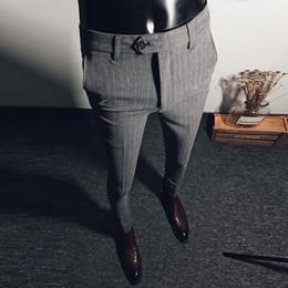 $enCountryForm.capitalKeyWord NZ - 2018 new autumn and winter striped casual pants men's Korean trousers youth hair stylist fashion men's feet pants tide
