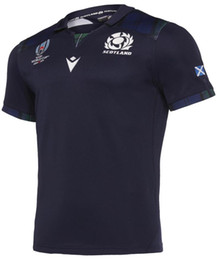 Wholesale SCOTLAND RUGBY RWC HOME PRO JERSEY Japan Rugby Jersey SCOTLAND HOME RUGBY WORLD CUP JERSEY size S XL can print