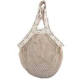 $enCountryForm.capitalKeyWord UK - Reusable Cotton Vegetable Storage Bags 5 Designs Rope Mesh Fruit Bags Washable Eco Friendly Pouch Shopping Tote Handbags 10 Sets DHL